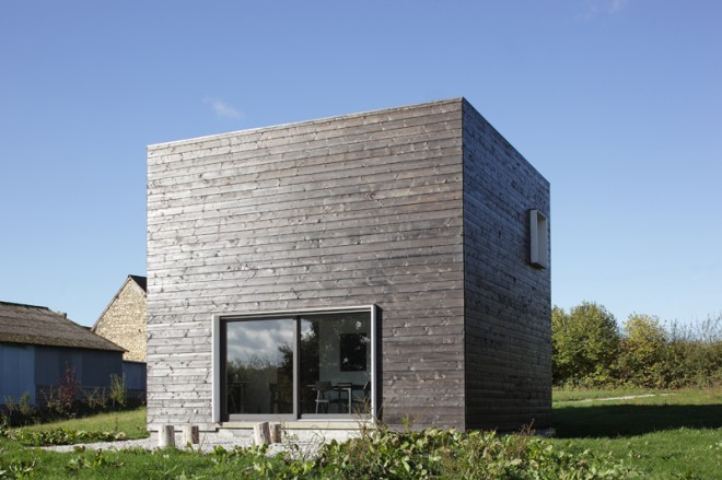 Maison cube for Maison cube en bois